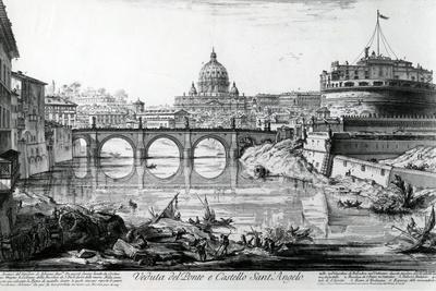 View of the Bridge and Castel Sant'Angelo, from the 'Views of Rome' Series, C.1760