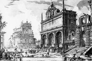 View of the Fontana Dell'Acqua Felice with the Church of Santa Maria Della Vittoria Behind, from… by Giovanni Battista Piranesi