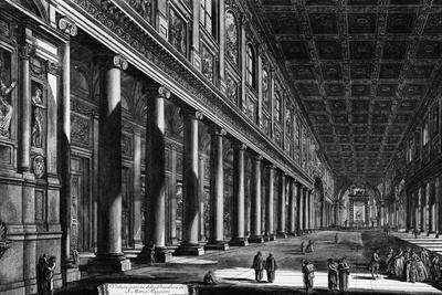 View of the Interior of Santa Maria Maggiore, from the 'Views of Rome' Series, C.1760