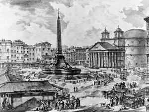 View of the Piazza Della Rotonda, from the 'Views of Rome' Series, C.1760 by Giovanni Battista Piranesi