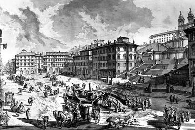 View of the Piazza Di Spagna, from the 'Views of Rome' Series, C.1760