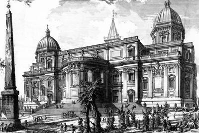 View of the Rear Facade of Santa Maria Maggiore, from the 'Views of Rome' Series, C.1760