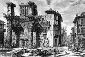 View of the Remains of the Forum of Nerva, from the 'Views of Rome' Series, 1758 by Giovanni Battista Piranesi