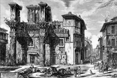 View of the Remains of the Forum of Nerva, from the 'Views of Rome' Series, 1758