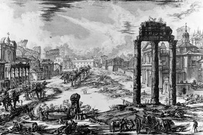 View of the Roman Forum, from the 'Views of Rome' Series, 1758