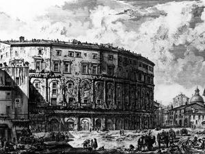 View of the Theatre of Marcellus, from the 'Views of Rome' Series, C.1760 by Giovanni Battista Piranesi