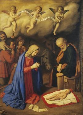 Adoration of Shepherds by Giovanni Battista Salvi da Sassoferrato