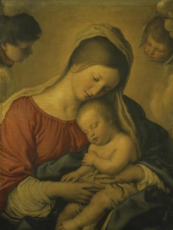 Madonna with the Infant Jesus Sleeping, 17th century by Giovanni Battista Salvi da Sassoferrato