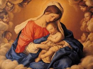 Sleep of the Infant Jesus by Giovanni Battista Salvi da Sassoferrato