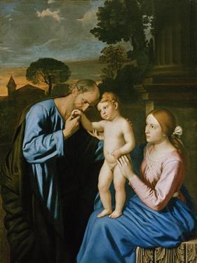 The Holy Family by Giovanni Battista Salvi da Sassoferrato
