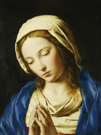 The Madonna, Bust Length, at Prayer by Giovanni Battista Salvi da Sassoferrato