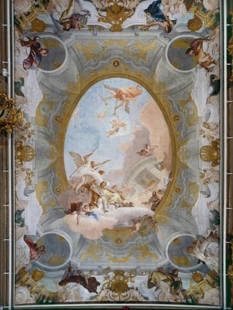 Allegory of Merit Accompanied by Nobility and Virtue, c.1757-8
