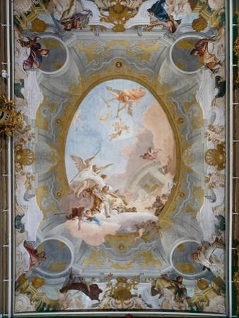 Allegory of Merit Accompanied by Nobility and Virtue, c.1757-8 by Giovanni Battista Tiepolo