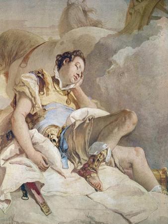 Armida Adbucting the Sleeping Rinaldo, Detail of Rinaldo by Giovanni Battista Tiepolo