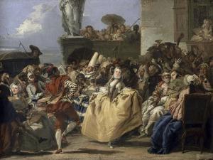 Carnival Scene, 18th Century by Giovanni Battista Tiepolo