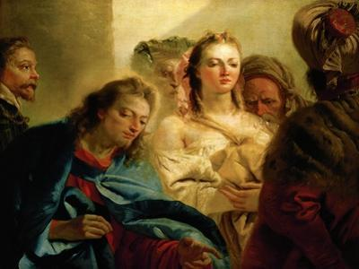 Christ and the Adulteress. by Giovanni Battista Tiepolo