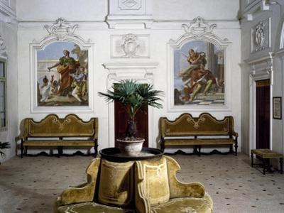 Glimpse of Living Room with Frescoes by Giovanni Battista Tiepolo