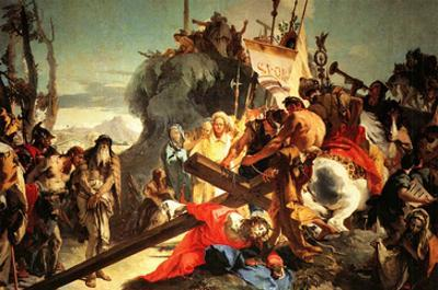 Jesus Carriying the Cross by Giovanni Battista Tiepolo
