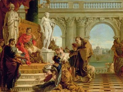 Maecenas Presenting the Liberal Arts to the Emperor Augustus (63BC-14AD) c.1745