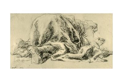 'Man prostrated in prayer', 1765-1770, (1928)