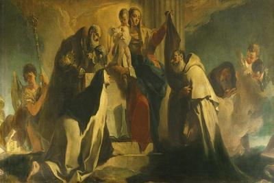 Our Lady of Mount Carmel and the Souls in Purgatory, 1721-1727