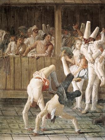 Pulcinella and the Tumblers by Giovanni Battista Tiepolo