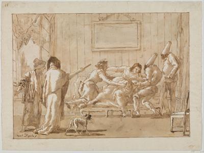 Punchinello's Mother  Sick in Pregnancy, c.1800 by Giovanni Battista Tiepolo