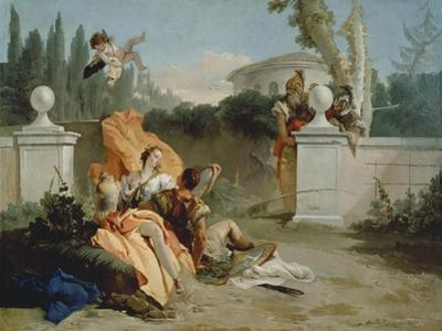 Rinaldo and Armida Surprised by Ubaldo and Carlo by Giovanni Battista Tiepolo