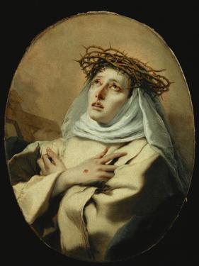 Saint Catherine of Siena, Around 1746 by Giovanni Battista Tiepolo