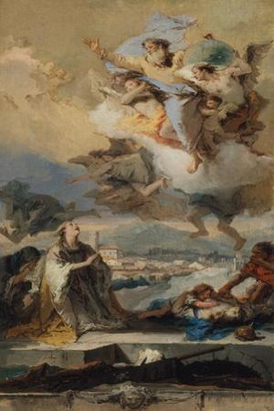 Saint Thecla Praying for the Plague-Stricken, 1758-59 by Giovanni Battista Tiepolo