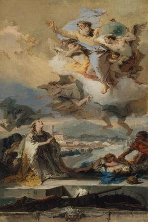 Saint Thecla Praying for the Plague-Stricken, 1758-59