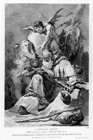 St. Anthony Abbot Enduring the Temptations of the Devil by Giovanni Battista Tiepolo