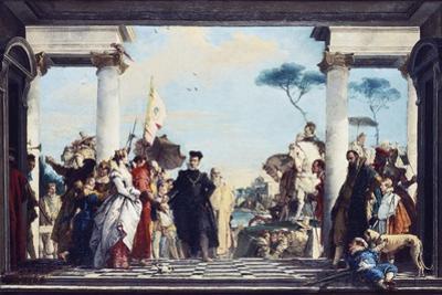 The Arrival of Henri III at the Villa Contarini, before 1750 by Giovanni Battista Tiepolo