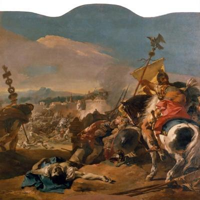 The Capture of Carthage, 1725-29 by Giovanni Battista Tiepolo