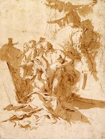 The Discovery of the Tomb of Punchinello by Giovanni Battista Tiepolo