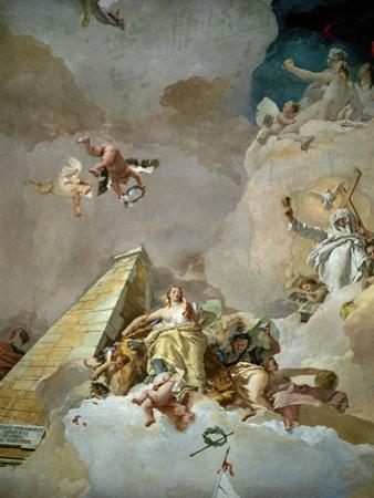 Throne Room: the Glory of Spain, Detail, 1762-1766 by Giovanni Battista Tiepolo