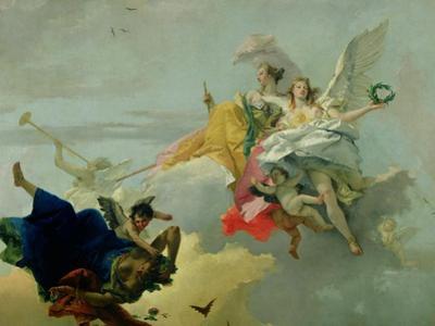 Triumph of Virtue and Nobility by Giovanni Battista Tiepolo