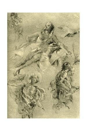 'Venus resting and other figures', c1762-c1766, (1928)