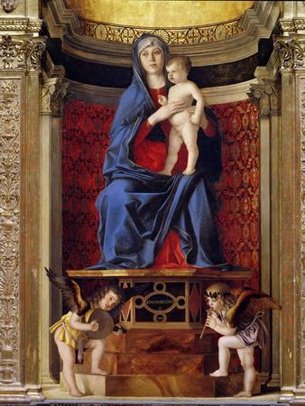 Triptych, Virgin in Majesty with Saints (Detail)