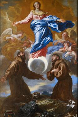 The Immaculate Conception with Saints Francis of Assisi and Anthony of Padua, 1650 by Giovanni Benedetto Castiglione