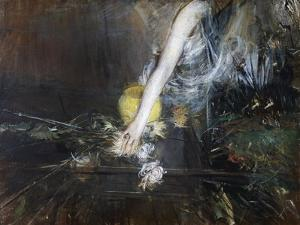 Arm with Flower Vase, Ca 1910 by Giovanni Boldini