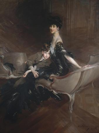 Consuelo Vanderbilt , Duchess of Marlborough, and Her Son, Lord Ivor Spencer-Churchill , 1906 by Giovanni Boldini