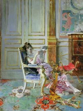 Girl Reading in a Salon, 1876 by Giovanni Boldini