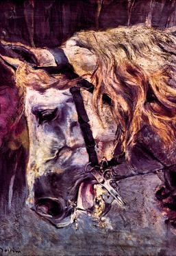 Giovanni Boldini Head of a Horse Art Print Poster