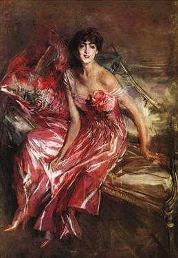 Lady in Red, 1905 by Giovanni Boldini