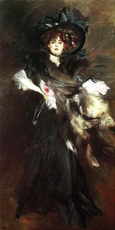 Portrait of Mille Lantelme, 1907, by Giovanni Boldini