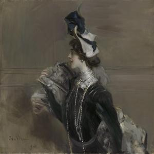 Portrait of Mme. Lina Cavalieri, 1901 by Giovanni Boldini