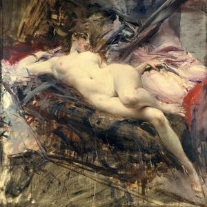 Reclining Nude, Late 19Th/Early 20th Century by Giovanni Boldini