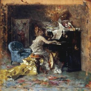 The Recital by Giovanni Boldini