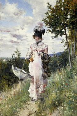 The Summer Stroll, 1873 by Giovanni Boldini